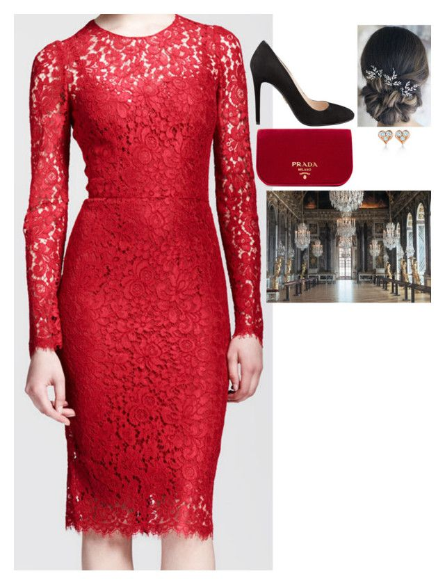"""""""Attending investitures of the Legion of Honour at the Château de Versailles"""" by fashion-royalty ❤ liked on Polyvore featuring Dolce&Gabbana, Prada and Tiffany & Co."""