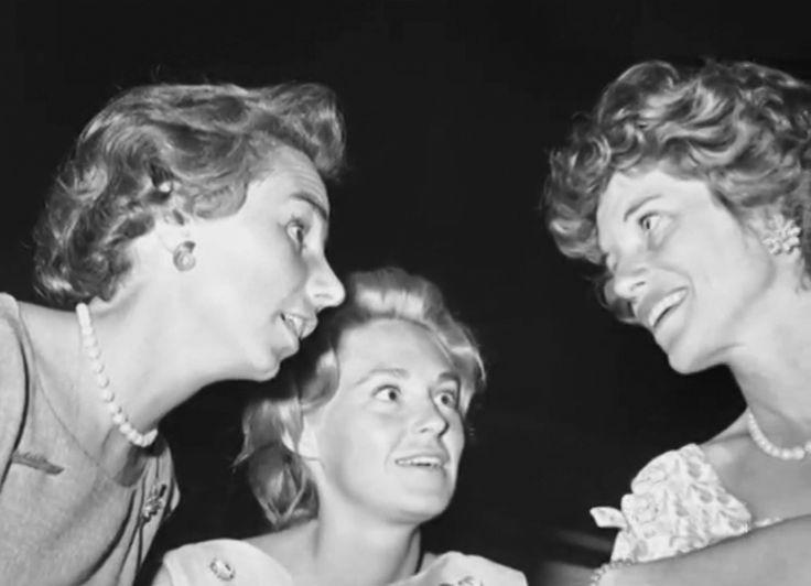 July 1960, Ethel Skakel Kennedy, Joan Bennett Kennedy and Eunice Kennedy Shriver…