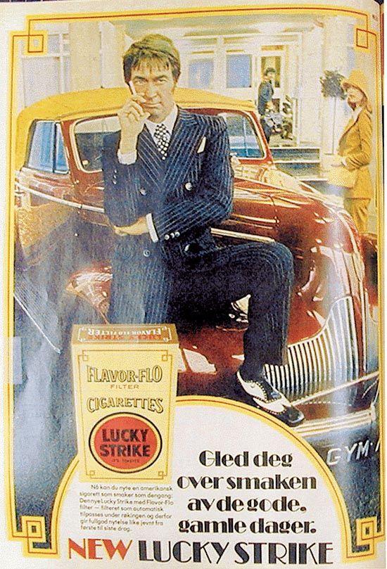 Reklame Lucky Strike sigaretter