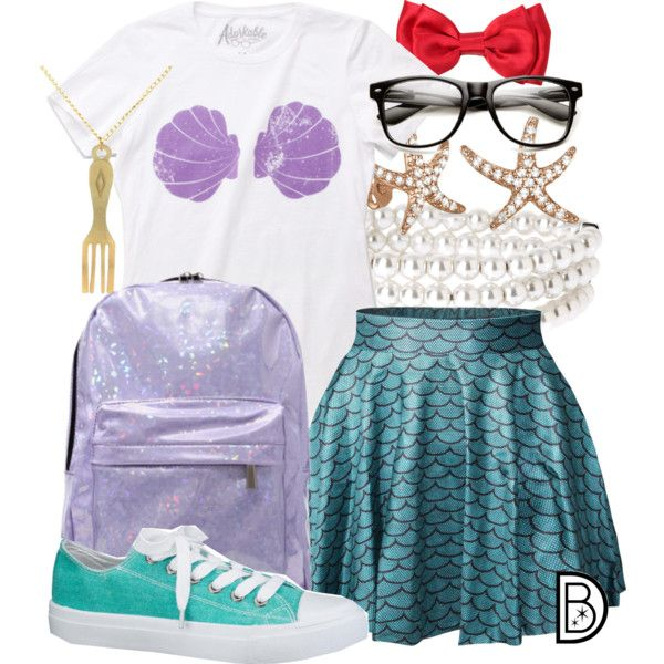 Hipster Mermaid by leslieakay on Polyvore featuring polyvore, fashion, style, maurices, Chicnova Fashion, Anne Klein, Allurez, Hipster, disney, mermaid, disneybound and disneycharacter
