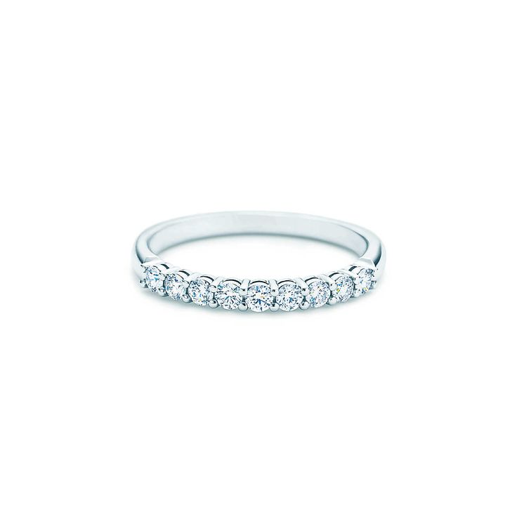 Tiffany Embrace® band ring. I like that the diamonds don't go all the way around - it seems more comfortable.
