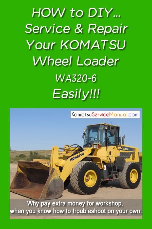 Komatsu Wheel Loader Wa320 6 Service Repair Manual Pdf Sn 70001 Up Repair Manuals Komatsu Repair
