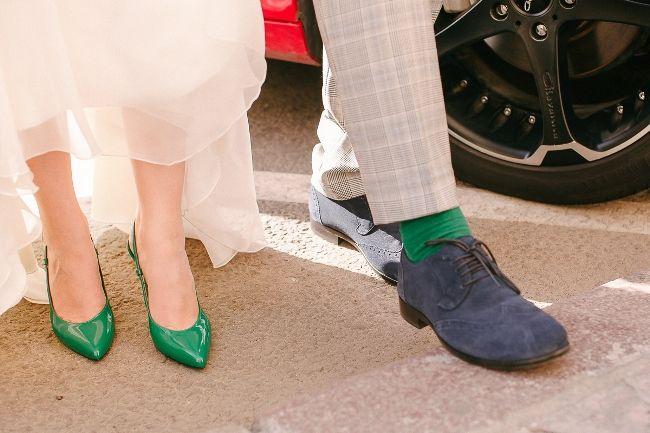 зеленые свадебные туфли / green wedding shoes