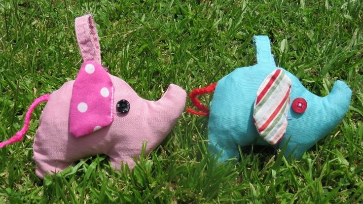 Scrappy Elephant Stuffed Animal Patterns - An elephant never forgets where he left his keys! Learn how to use up scraps with this adorable and easy sewing project.
