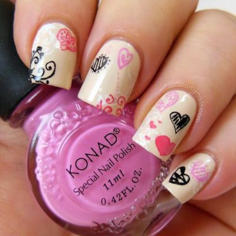 30 Awesome Valentine's Day Nails Ideas | Styleoholic
