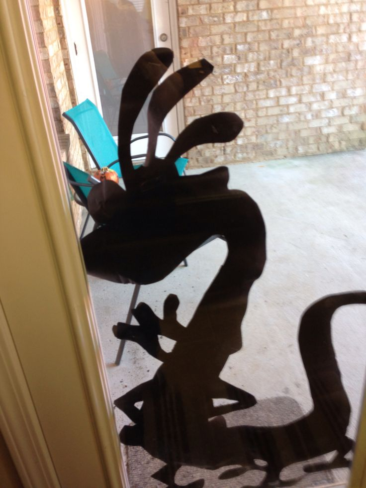 Randall silhouette for monsters inc party