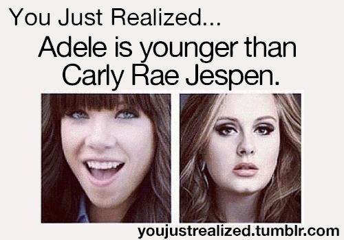 I'm sorry but Adele is like the queen. Carly is like the person they don't even let near the castle.