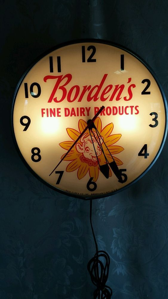 Borden Advertising Pam Clock Elsie The Cow Fine Dairy