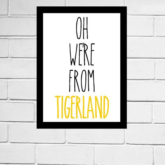 Richmond Tigers, Richmond FC, Richmond, Tigers - AFL football club song print - Digital Download - All AFL clubs available