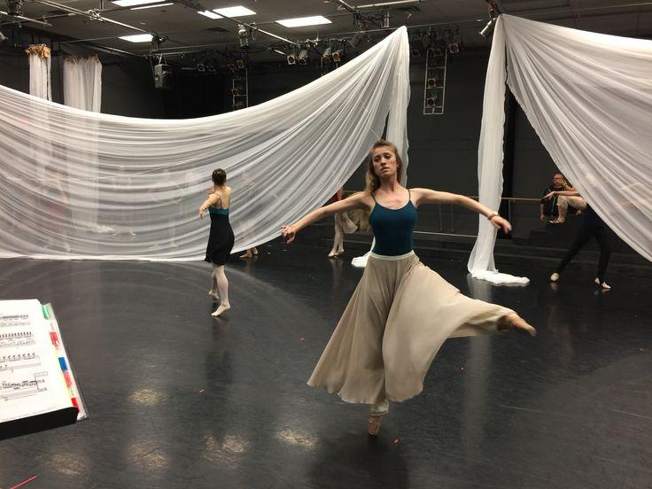 Rehearsing for Twyla Tharp's The Princess and the GoblinJesse Petrie; Photo by Diana Blumczynski
