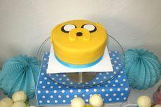 "Tarta Jake el perro/Jake the dog cake: Mesa dulce con temática ""Hora de aventuras"" - ""Adventure time"" themed sweet table"