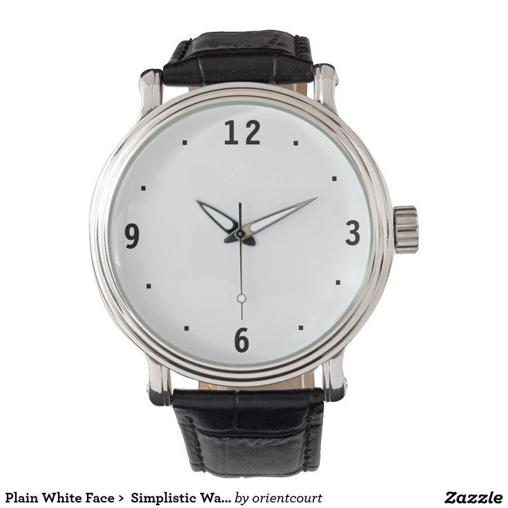 Plain White Face >  Simplistic Watches