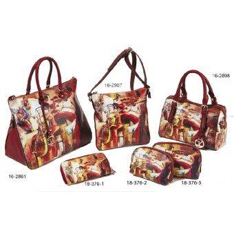 Τσάντες και πορτοφόλι με στάμπα Verde S-6846