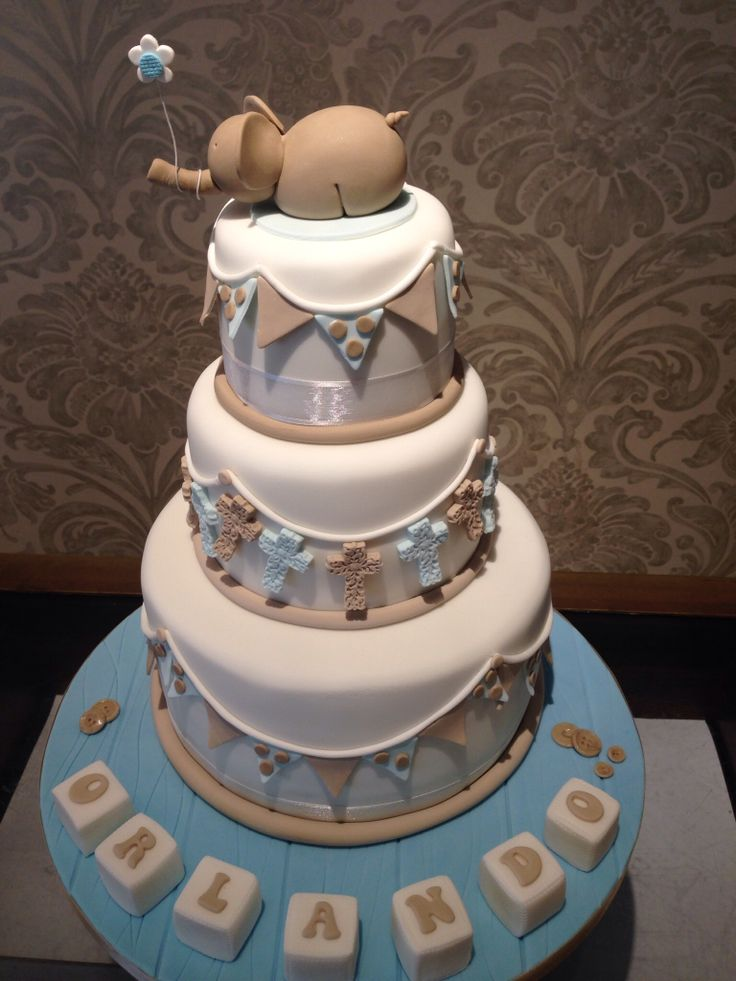 Beautiful Baby Boy Christening Cake Christening Cakes