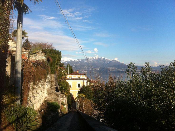 Lago Maggiore, Oggebbio, Italy. The view of Lago Maggiore, one of many walks. Oggebbio apartment rental.
