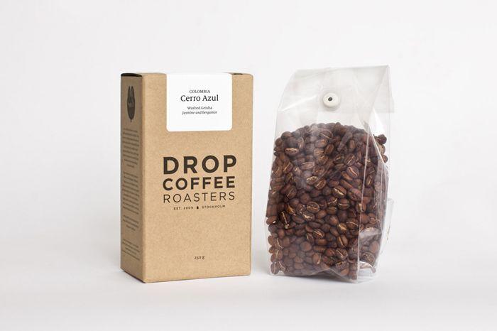 Drop #coffee roasters by Simon Ålander, Stockholm #packaging