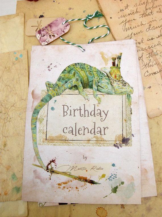 Calendario de aniversarios ilustrado (Calendario perpetuo)