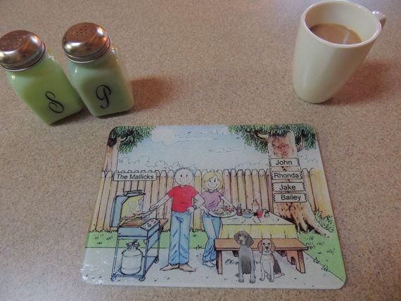 Personalized Cartoon Print Cutting Board   by CartoonCityExpressio