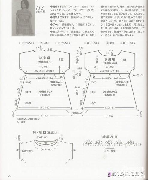 بلوزة كروشية صيفى للبنات فستان وبالباترون 13654658295.jpg