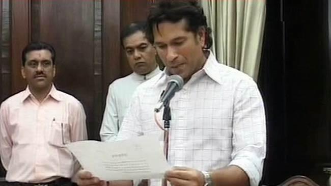 Sachin Tendulkar devient membre du parlement Indien