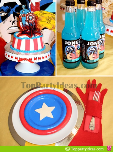 264 best the captain america theme birthday images on pinterest birthday party ideas. Black Bedroom Furniture Sets. Home Design Ideas
