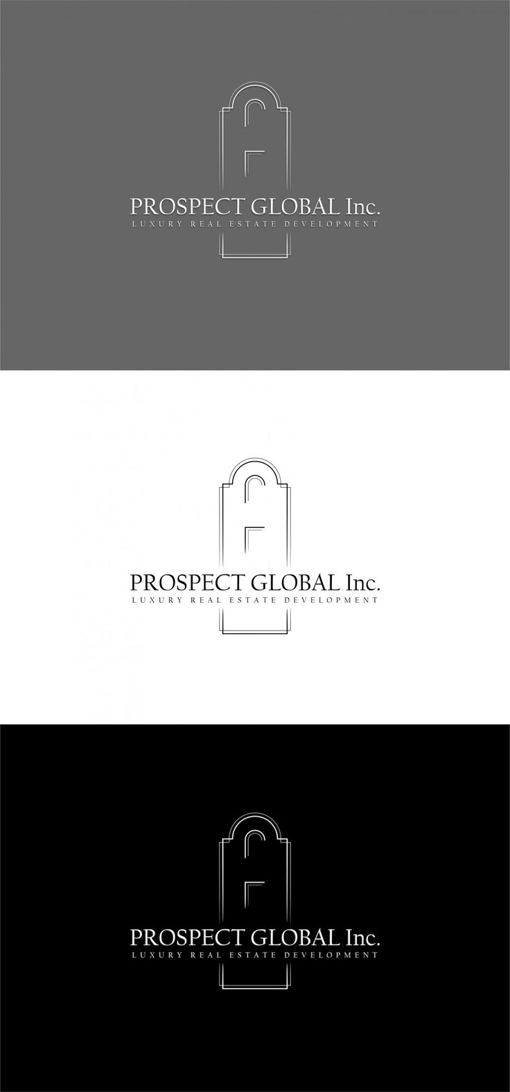 Praca nr 340717 w konkursie Logo dla firmy Prospect Global - Luxury Real Estate Developments | Corton.pl