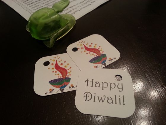 Diwali Greeting Card and Gift Labels – Free Printable and Template!