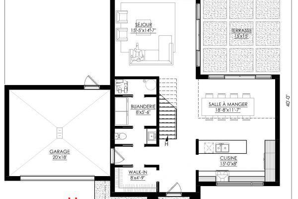 Plan de Maison Moderne Ë_112 Leguë Architecture a1 in 2018