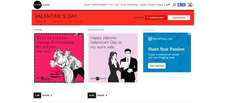 9 Places to Look Online for Valentine Ecards: Someecards