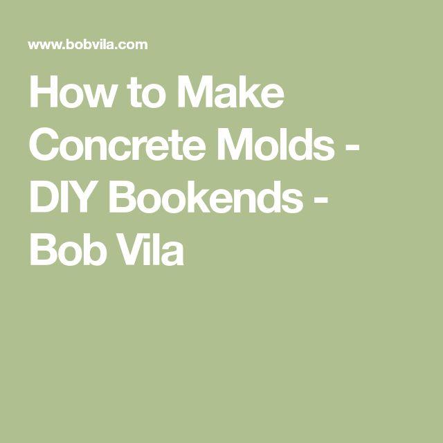 how to make a concrete mold foam