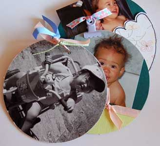 Recycle old CDs into pages of a unique scrapbook album. SO doing this for Xmas this year...