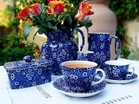 Burleigh - Blue Calico, englisches Geschirr - gefunden bei Kitchen Cabinet