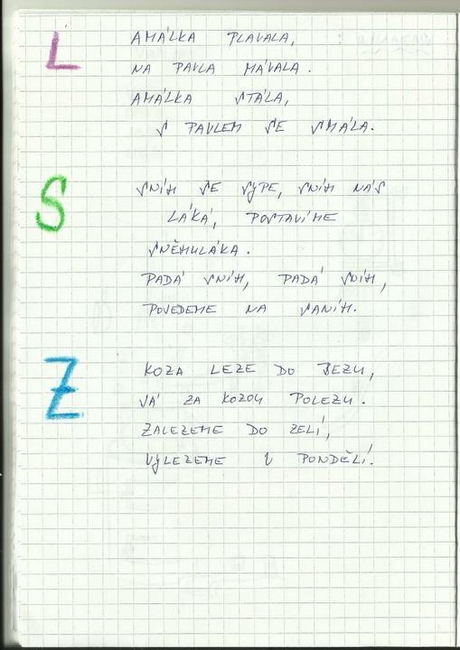 Logopedie - oromotorika pro písmeno L - Album uživatelky sisstin - Foto 1 | Modrykonik.cz
