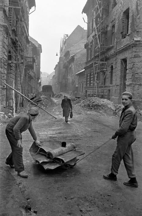 Aftermath of the Hungarian Revolution, crushed by Soviet troops in November 1956. Photo by Erich Lessing.