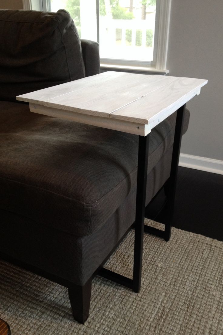 Repurposed wooden palette into table