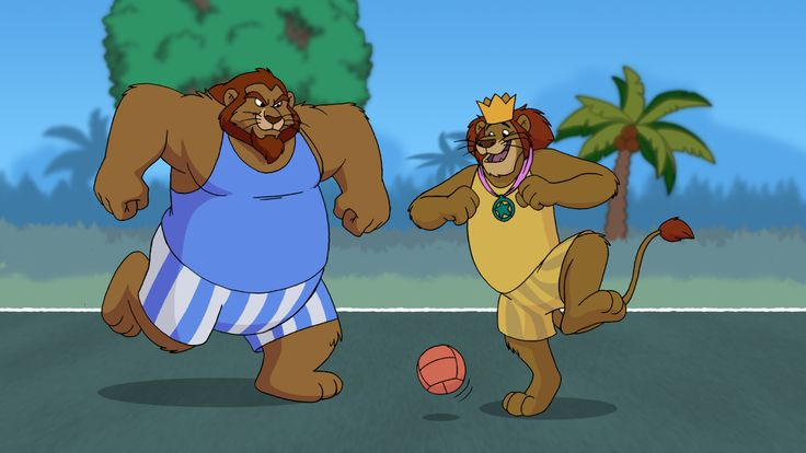 """Just dont stand there! Head it in!"" - by tobias-radjin    A gift to my good friend gentlebull  One bright morning King Leonidas invites the Famous and Stong hero, Hercules to a little one on one soccer match. In the middle of the game the score is tied and victor can be any Lion worth his moxy.    Art by gepredators  King Leonidas is owned by Disney    Hercules is owned by Saban Entertainment    Idea concept by gepredators and i"