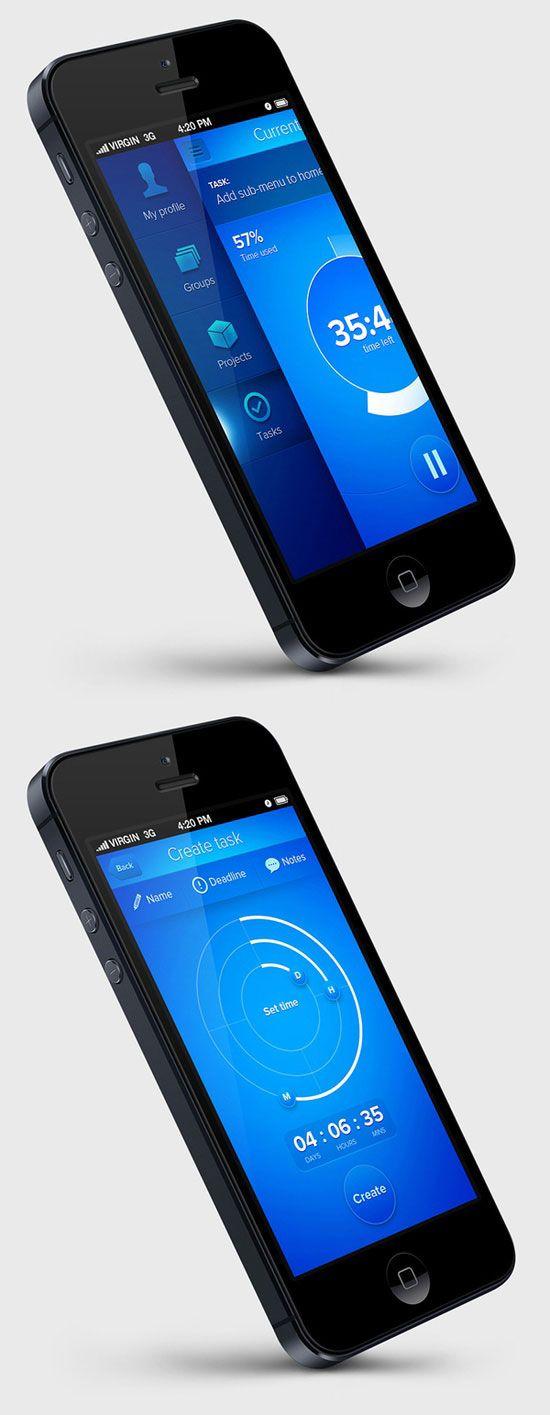 blue Navigation Inspiration for Mobile UI