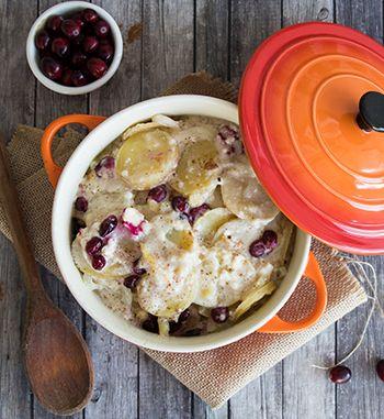 Potato Gratin with Cranberries and Feta | EarthFresh