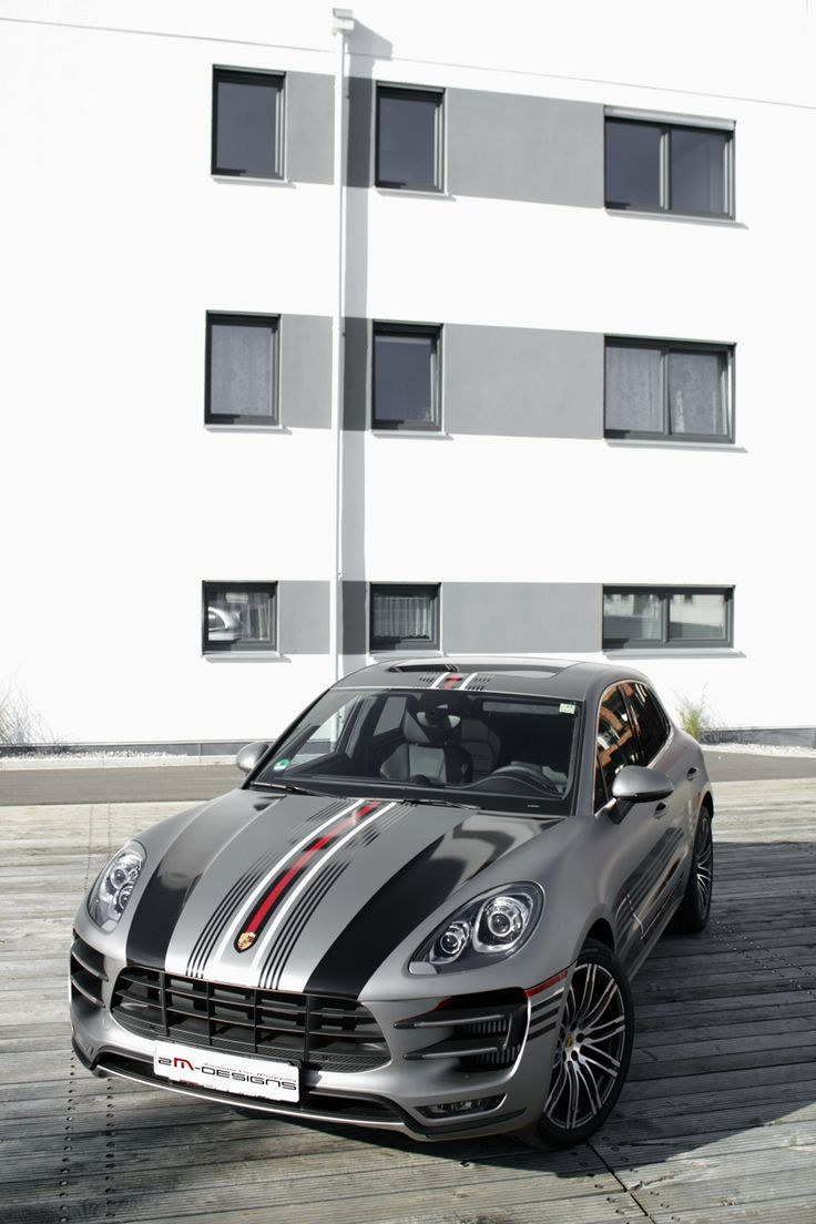 2m designs gives the porsche macan its tiger stripes