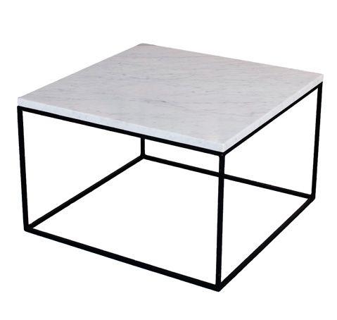 Stone soffbord 60x60 cm med marmortopp