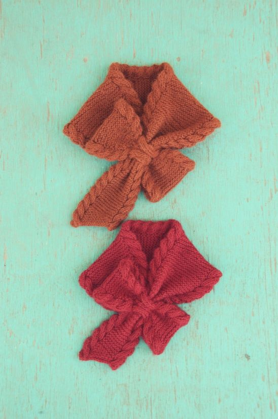 Bow Tie Ascot by Pam Powers | Project | Knitting / Scarves, Shawls, & Cowls | Kollabora