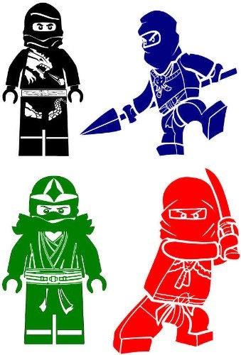 Custom Order for maccurso Lego Ninjago Vinyl Decals Set of 4. $39.00, via Etsy.
