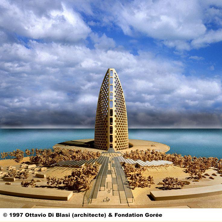Projet de la facade du Mémorial de Gorée à Dakar par Ottavio Di Blasi en 1997 - www.memorialdegore.org