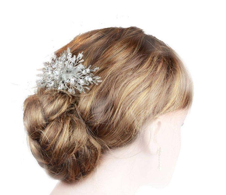 'Frost' Swarovski Crystal Wedding Hair Com #etsy shop: Wedding Hair Comb, Bridal Hair comb, Hair Comb For Brides, Bridal Hairpiece, Bridal Headdress, Crystal Hair Comb, Hair Accessories, http://etsy.me/2Czza95 #weddings #accessories #crystalhaircomb #weddinghaircomb #w