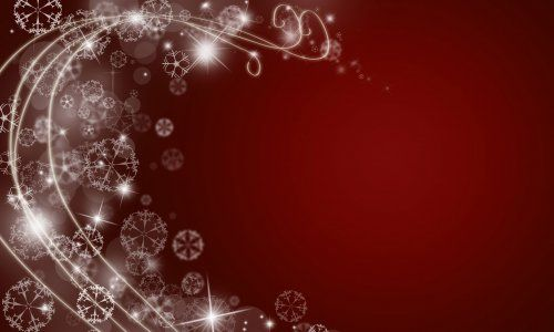 red abstract christmas swirl