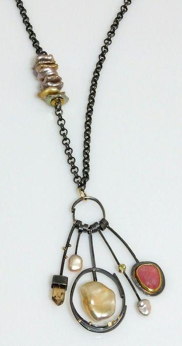 Sydney Lynch  ||  Botticelli Cluster necklace; Keshi pearls, topaz crystals…