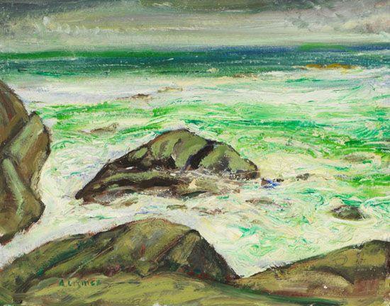 Arthur Lismer - Pacific Ocean B.C. 14 x 18 Oil on board