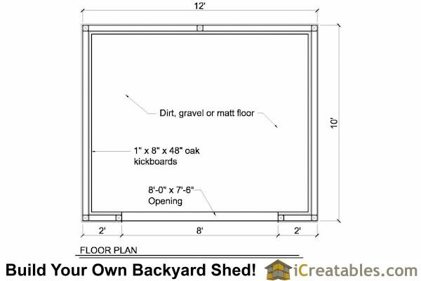 10x12 run in shed floor plan