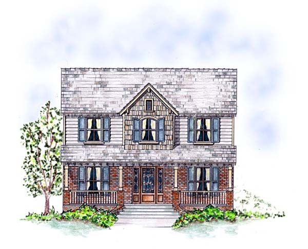 Country Southern Traditional House Plan 53903