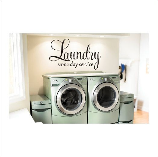 Laundry Wall Decal Large Laundry Room Decal by CustomVinylbyBridge